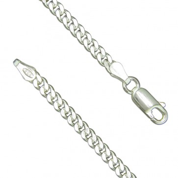 Mens 24 Inch Sterling Silver Curb Chain