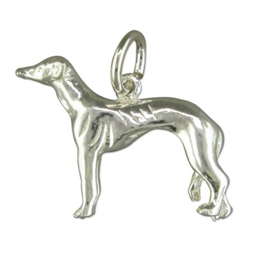 Children's Sterling Silver Greyhound Pendant On A Curb Necklace