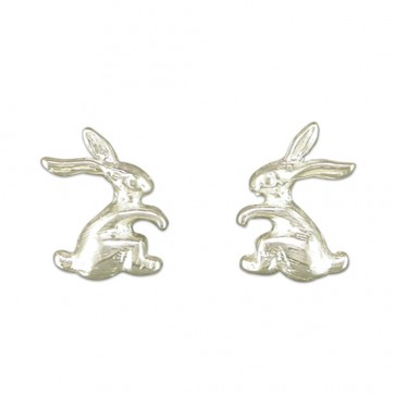Sterling Silver Rabbit Stud Earrings