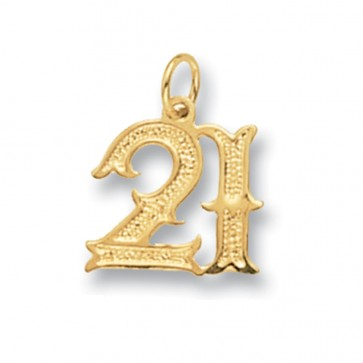 9ct Gold Old English Font 21st Birthday Pendant On A Belcher Necklace