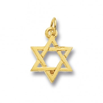 9ct Gold Star Of David Pendant On A Belcher Necklace