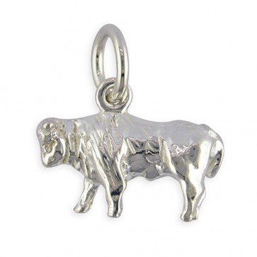Children's Sterling Silver Zodiac Sign Taurus Pendant On A Curb Necklace