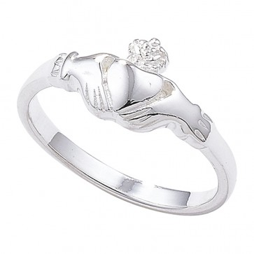 Sterling Silver Plain Claddagh Band