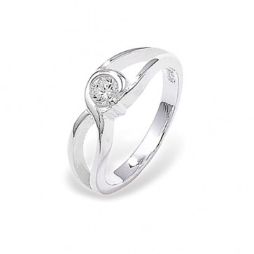 Sterling Silver Fancy Cubic Zirconia Ring
