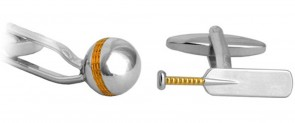 Novelty Cricket Bat & Ball Cufflinks