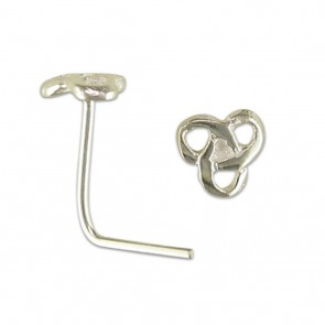 Sterling Silver Celtic Loops Nose Stud