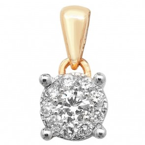 9ct Gold 0.15ct Diamond Pendant On A Belcher Necklace