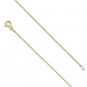 18K Gold Plated 16 Inch Bead Chain