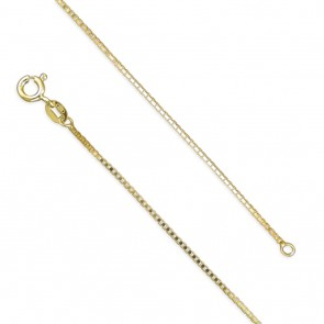 18K Gold Plated 16 Inch Light Box Chain