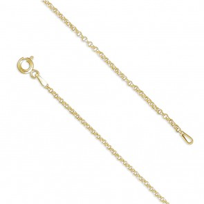 18K Gold Plated 16 Inch Belcher Chain
