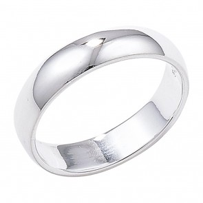 Sterling Silver 4mm Wedding Ring