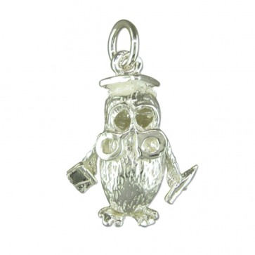 Sterling Silver Owl Pendant On A Snake Necklace