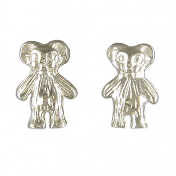 Sterling Silver Teddy Bear Earrings