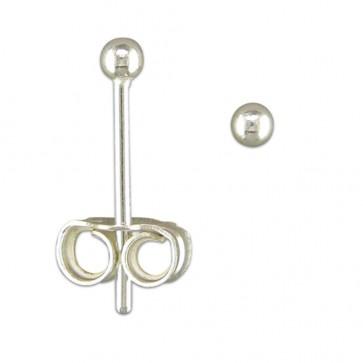 Sterling Silver 2MM Ball Stud Earrings