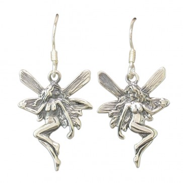 Sterling Silver Fairy Drop Earrings