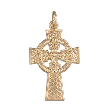 Children's 9ct Gold Medium Celtic Cross Pendant On A Prince of Wales Necklace