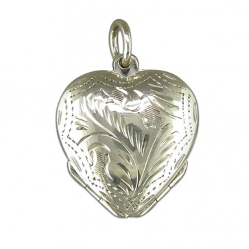 Children's Sterling Silver Four Way Heart Locket On A Curb Necklace