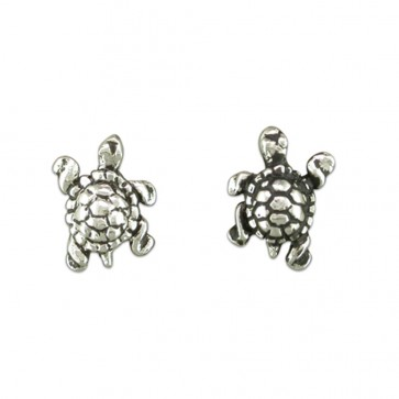 Sterling Silver Tortoise Stud Earrings