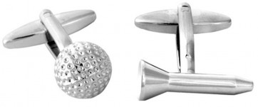 Novelty Golf Ball & Tee Cufflinks