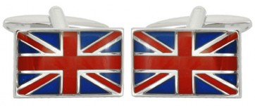 Novelty Union Jack Flag Cufflinks