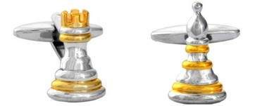 Novelty Chessmen & Pawn Cufflinks