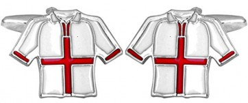 Novelty England Football Shirt Cufflinks
