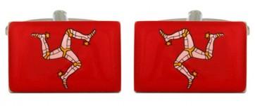 Novelty Manx Flag Cufflinks