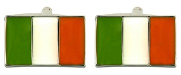 Novelty Irish Flag Cufflinks
