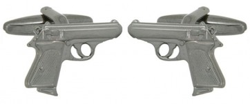 Novelty Walther PPK Secret Agent Pistol Cufflinks