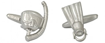 Novelty Diving Mask & Fin Cufflinks