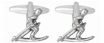 Novelty Skier On Skis Cufflinks