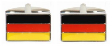 Novelty German Flag Cufflinks