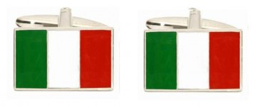 Novelty Italian Flag Cufflinks