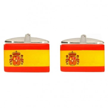 Novelty Spanish Flag Cufflinks