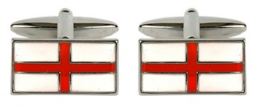 Novelty St. George's Cross Flag Cufflinks