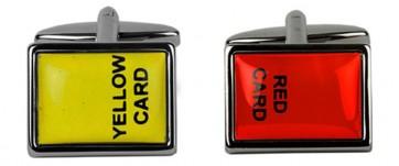 Novelty Red & Yellow Card Cufflinks