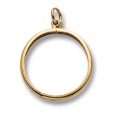 9ct Gold Half Sovereign Mount Pendant On A Belcher Necklace
