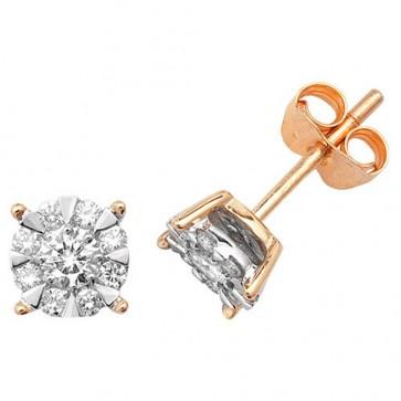9ct Yellow Gold 0.50ct Diamond Stud Earrings