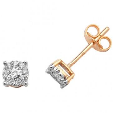 9ct Yellow Gold 0.20ct Diamond  Stud Earrings