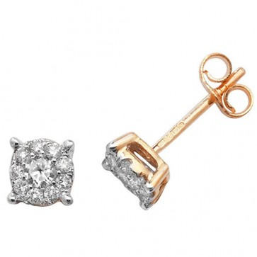 9ct Yellow Gold 0.30ct Diamond Stud Earrings