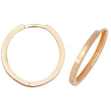 9ct Yellow Gold 22MM Plain Hinged Hoop Earrings