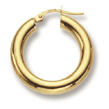 9ct Yellow Gold Small Plain Hoop Earrings