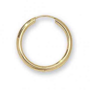 9ct Yellow Gold 20MM Sleeper Earrings