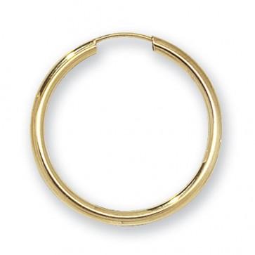 9ct Yellow Gold 25MM Sleeper Earrings
