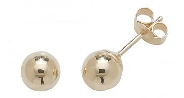 9ct Yellow Gold 5MM Ball Stud Earrings