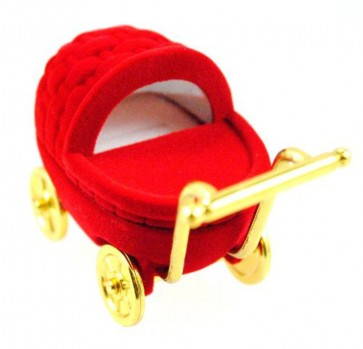 Red Pram Ring Box