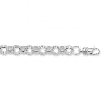 Sterling Silver Round Belcher Chain Necklace - 7mm Thick - Various Lengths - 20, 22, 24, 26 and 30 Inch Long