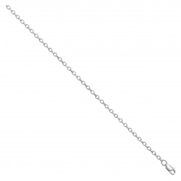 Sterling Silver Faceted Belcher Chain Necklace - 2mm Thick - Various Lengths - 16, 18, 20, 22, 24, 26 and 30 Inch Long