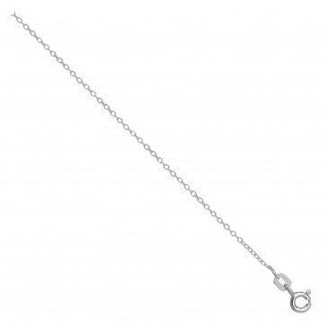 Sterling Silver Open Link Round Rolo Chain Necklace - 1mm Thick - Various Lengths - 16, 18 and 20 Inch Long