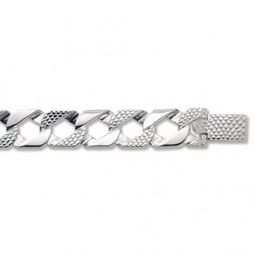 Sterling Silver Cast Curb Chain Necklace - 12mm Thick - Various Lengths - 22, 24, 26 and 30 Inch Long